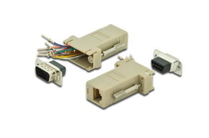 ASSMANN Adapter RS 232 DSUB 9pin St > RJ45 Bu