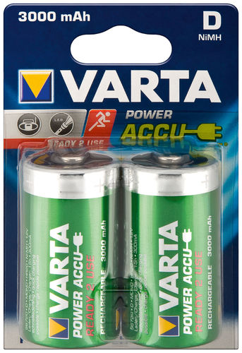 VARTA Ready to Use D (Mono)/HR20 - 3000 mAh 2 BLP