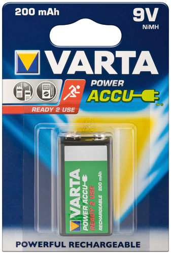 VARTA Ready to Use 9V Block/6HR61 - 2000 mAh 1 BLP